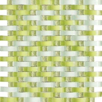 glass walls bathroom buy 12x12 vintrav lime green 3d waves glass mosaic tiles