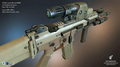 piotr wawrzkiewicz fn scar  assault rifle wirh sopmod