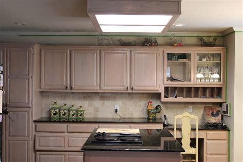 kitchen simple pickled oak cabinets  traditional
