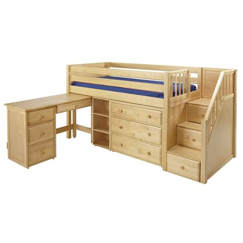 bed with desk and storage great 2 storage bed with desk in natural by maxtrix 612