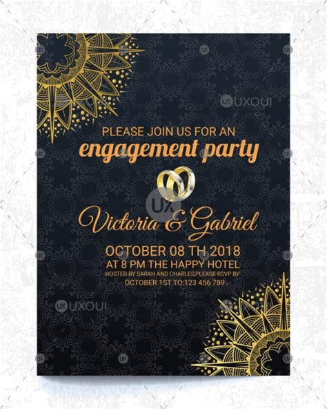 Free retro wedding invitation card template design vector