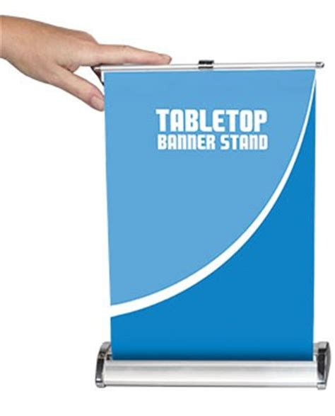 nimbus  table top retractable banner stand power