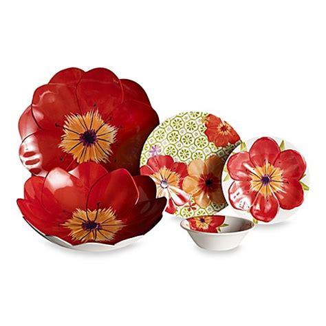poppy dishes dinnerware poppy geo 3d round dinnerware collection bed bath beyond