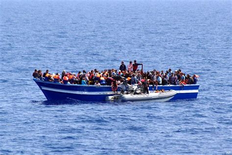 Refugee Boat Italy by Boat Capsizes Off Libyan Coast 700 Migrants Feared Dead