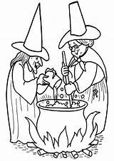 Witch Coloring Pages Cartoon sketch template
