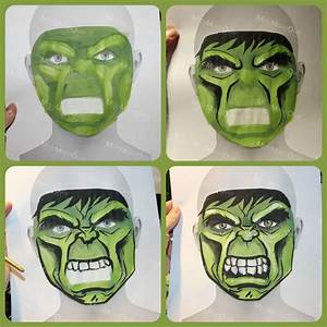 the incredible hulk face paint sketch on face template by With incredible hulk face template