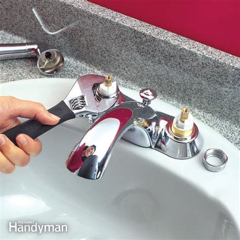 how do i fix a leaky kitchen faucet quickly fix a leaky faucet cartridge the family handyman