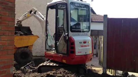 takeuchi tb mini digger excavator bagger pelle graver youtube