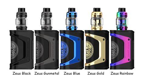 zeus aegis legend geekvape tank kit colors vape gold ohm sub limited rainbow edition specifications gunmetal