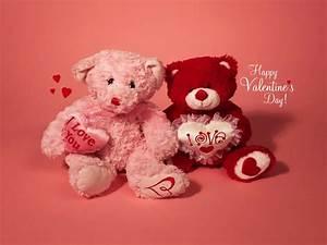 Cute Teddy Bear Wallpaper For Valentine Day - HD Wallpaper ...