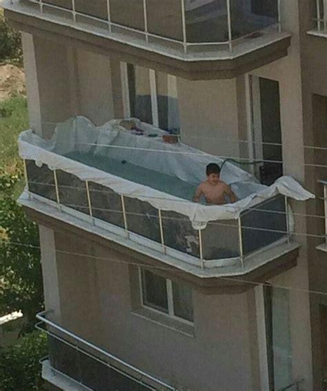 smart thinking kid turns  apartment balcony