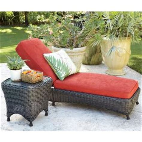 martha stewart living lake adela spice patio chaise lounge