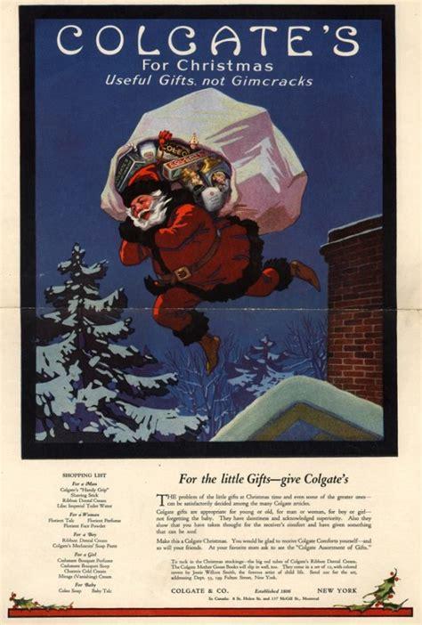 disturbing vintage santa advertisements  ruin