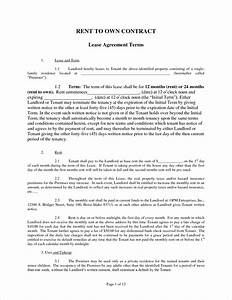 4 rent to own contract samplereport template document With rent to buy agreement template
