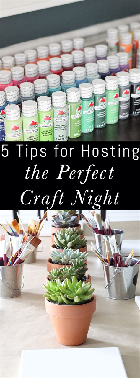 5 Tips For Hosting The Perfect Craft Night  Erin Spain
