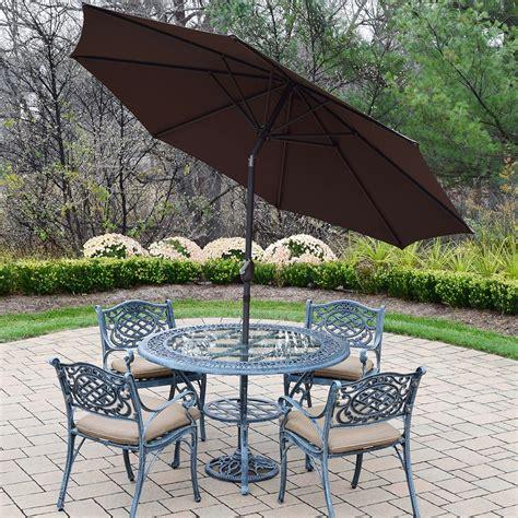 oakland living mississippi 7pc cast aluminum patio set
