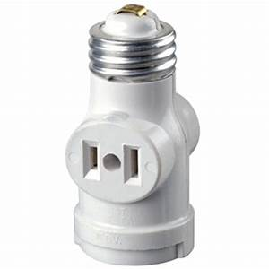 Leviton outlet white socket with pull chain r