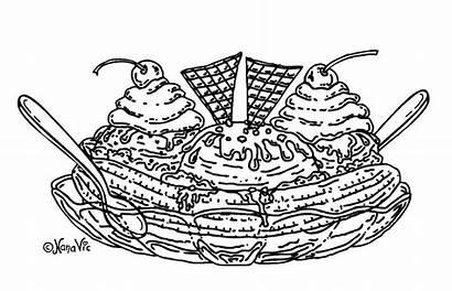 Coloring Sundae Ice Cream Pages Cartoon Icecream