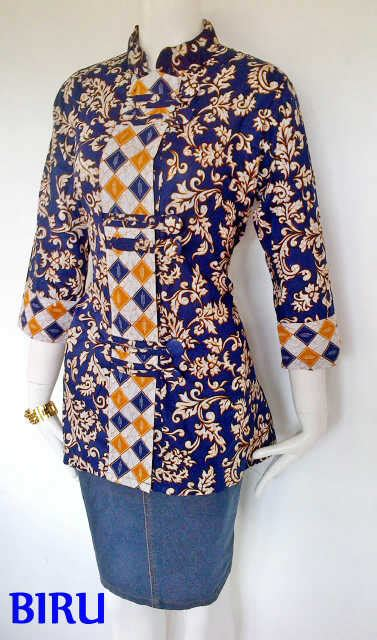 model baju blus batik elegan  modis model baju