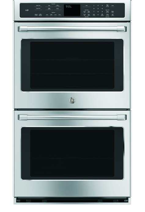 ge cafe  stainless double wall oven ctshss