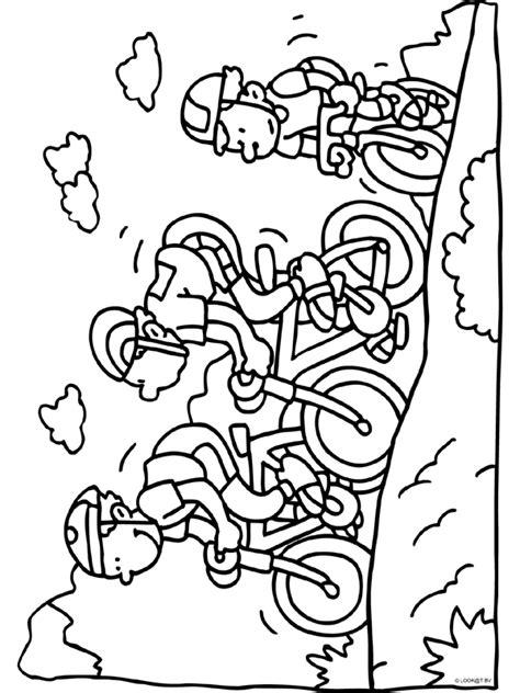 Kleurplaat Logo Frankrijk by Fietsen Wielrennen Knutselpagina Nl Knutselen