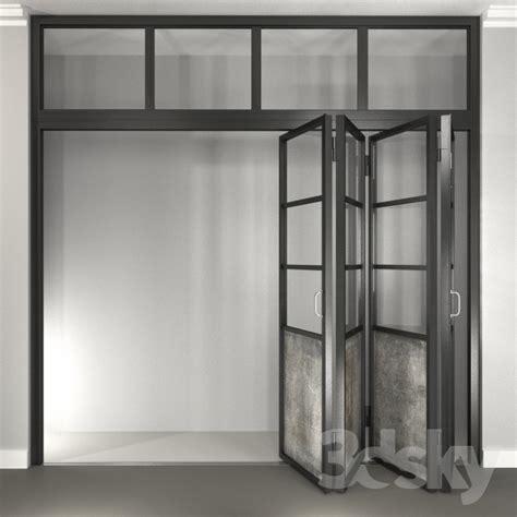 accordion door 3d models window door steel folding door