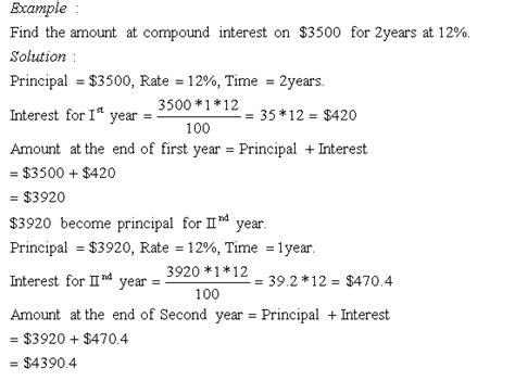 compound interest  grade  mathematics kwiznet