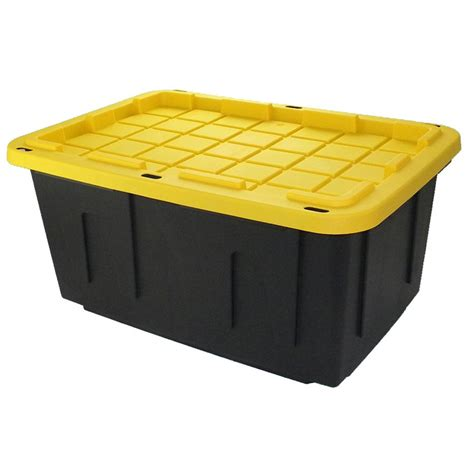 centrex plastics commander 27 gal tote with standard snap