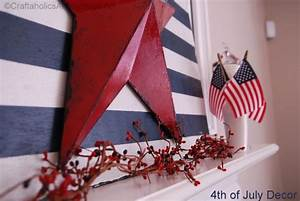 Craftaholics Anonymous 4th Of July Mantel Decorations