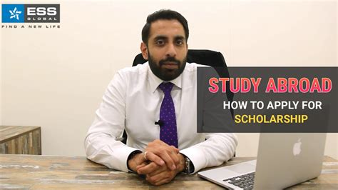 study abroad how to apply for scholarship