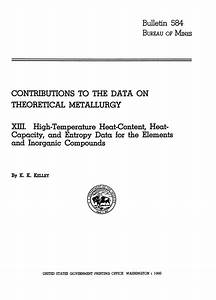 Contributions To The Data On Theoretical Metallurgy   Part