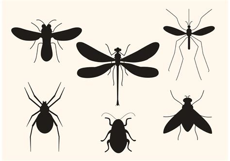 clipart vectors vector insect silhouettes free vector