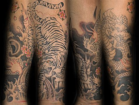 tiger  dragon tattoo design ideas pictures gallery