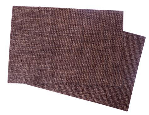 vinyl placemats squish crossweave woven vinyl placemat set of 4 brown rustica