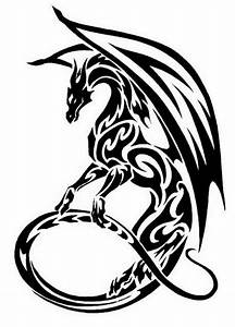 Black And White Dragon Images | Free download best Black ...