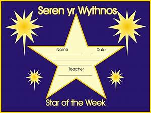 examples star of the week certificate With star of the week poster template