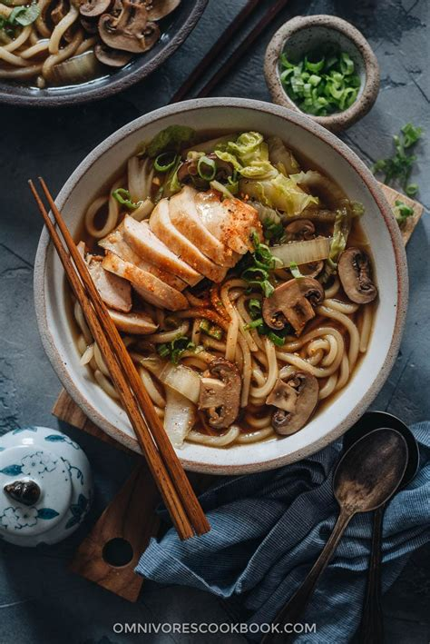 chicken udon soup omnivores cookbook
