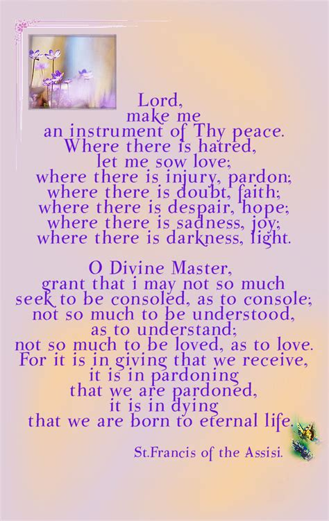 m c frank the prayer of st francis of assisi