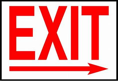 Exit Sign Arrow Right Facing Clipart Illustration