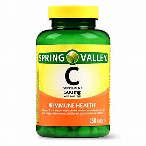 Spring Valley Vitamin C Tablets  500 Mg  250 Ct - Walmart Com
