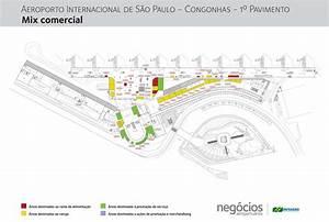 Aeroporto de Congonhas Piso 1 mapa Mapa do aeroporto de Congonhas do Chão 1 (Brasil)