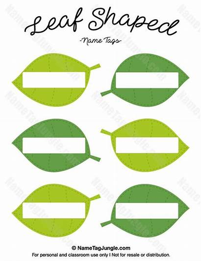Leaf Tags Leaves Shaped Tag Clipart Printable