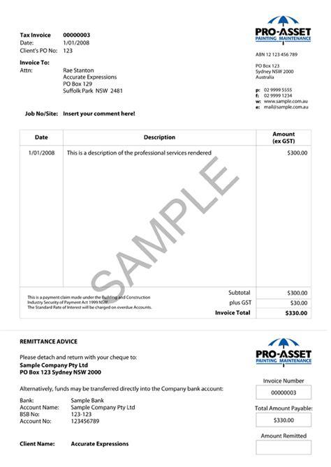 portfolio accurate expressionscustom myob invoices