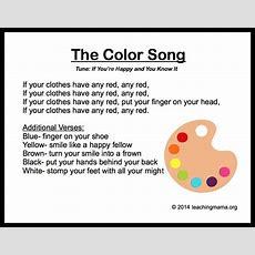 10 Preschool Songs About Colors  Songs  Preschool Songs, Kindergarten Songs, Color Songs