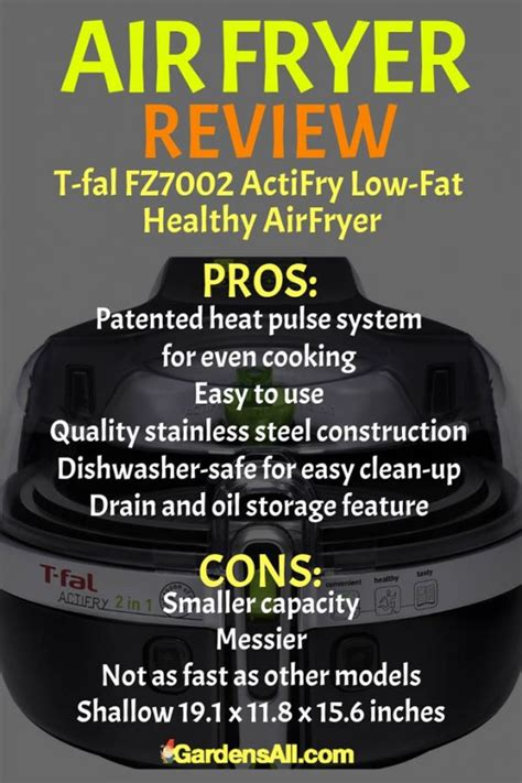 air airfryer cons pros fal healthy actifry fat low fryer fryers gardensall