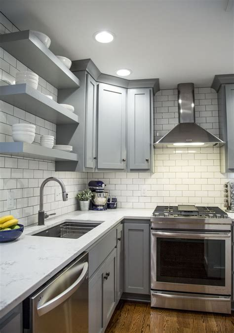 gray kitchen tile brite white subway tile 3x6 classic gray shaker 1328