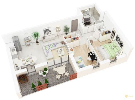 3 Bedroom Floor Plan In 3d by 25 More 2 Bedroom 3d Floor Plans Amazing Architecture