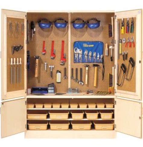 Tool Storage Cupboard by Pegboard Tool Storage Cabinet W Holders Dts 4 Makerspace