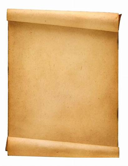 Scroll Paper Blank Clipart Documento Template Transparent
