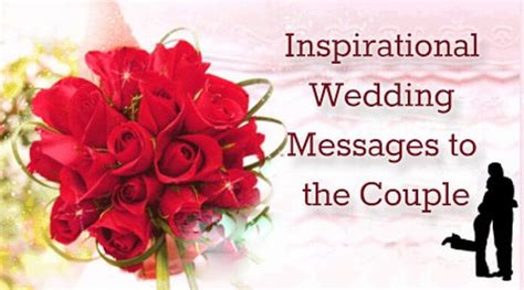 inspirational wedding messages   couple